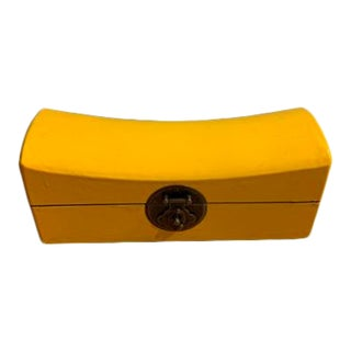 Yellow Wooden Jewelry Box For Sale