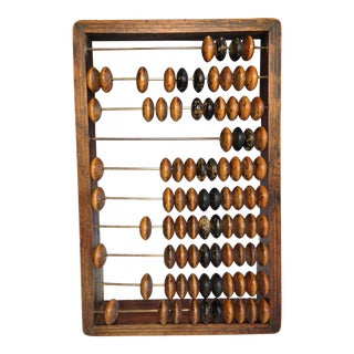 Antique European Wood Abacus Counting Frame For Sale