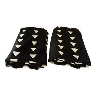 Mali Black & white Mud Cloth Fabrics - A Pair For Sale