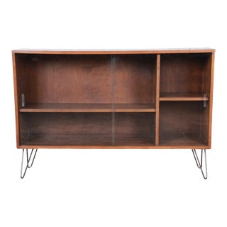 1950s Paul McCobb Planner Group Glass Front Bookcase For Sale