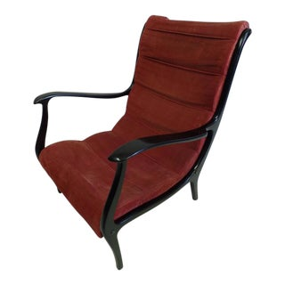 Elegant Pair of Italian Mid-Century Modern Lounge Chairs in Style of Gio Ponti