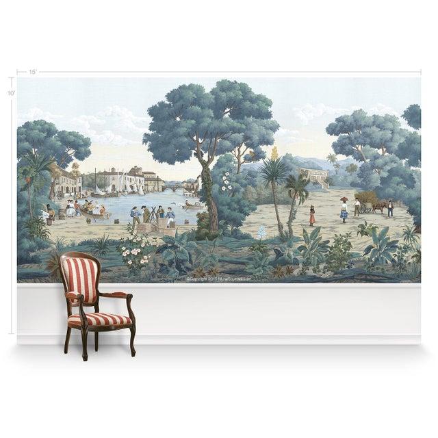 Chinoiserie Casa Cosima Bajan Mural - Sample For Sale - Image 3 of 5