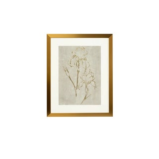 Framed Gold Foil Serigraph Watercolor Artwork For Sale