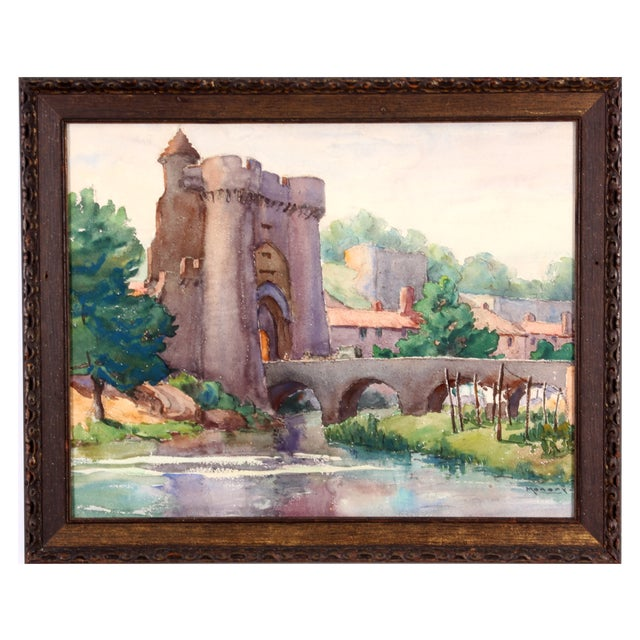 Monory Town Gate in France Painting - Image 1 of 7