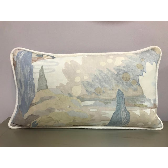 """""""Soo Locks"""" watercolor design patter by """"Beacon Hill"""" """"Frost"""" printed in beautiful pastel colors on 100% linen and corded..."""