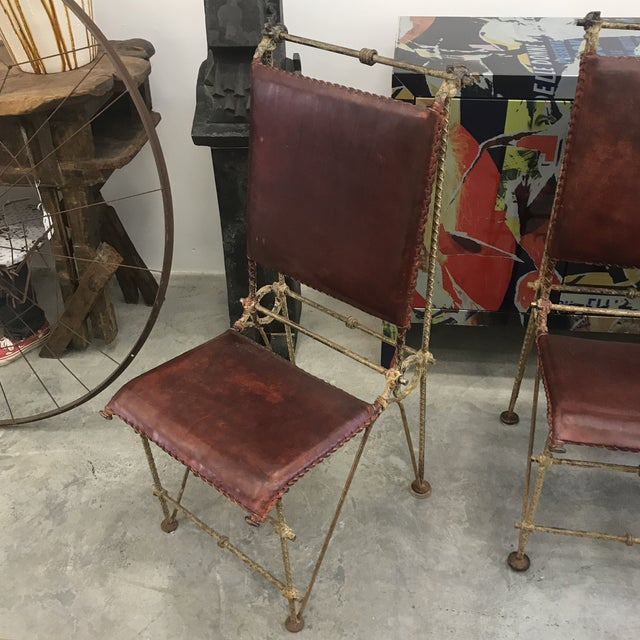 Animal Skin 1980s Ilana Goor Dining Chairs - Set of 4 For Sale - Image 7 of 13