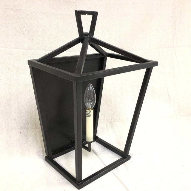 Contemporary Aged Iron Darlana Wall Lantern by Visual Comfort For Sale - Image 3 of 8