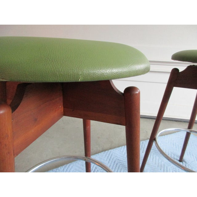 Danish Modern Floating Top Bar Stools - A Pair - Image 4 of 10