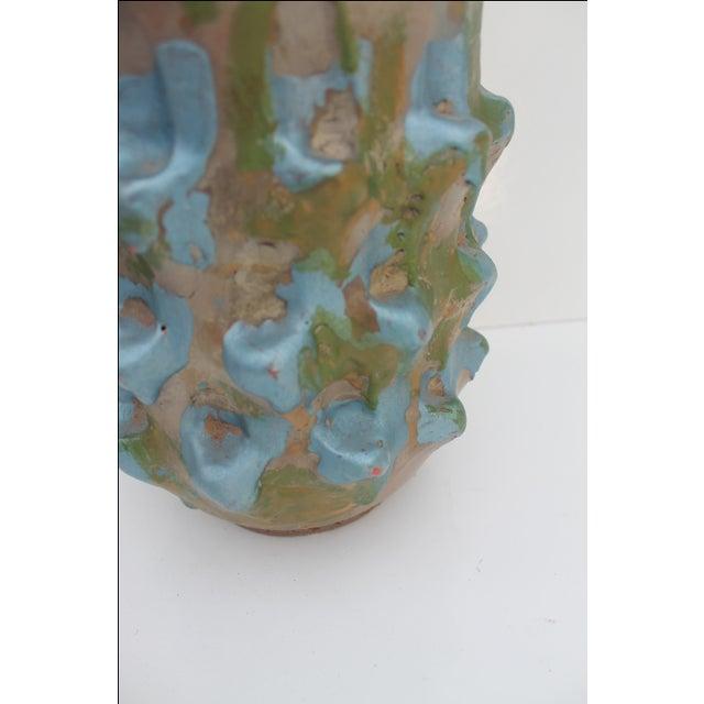 Vintage Blue Bonnet Ceramic Vase For Sale - Image 9 of 10