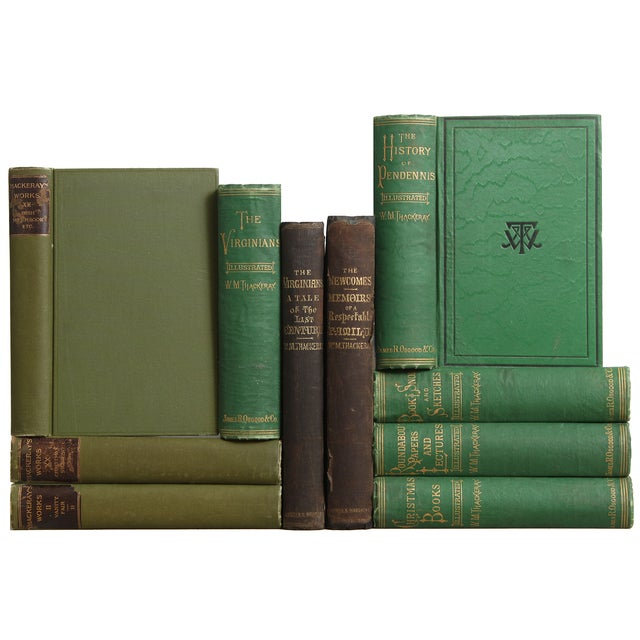 Antique Green & Black Books - Set of 10 - Image 1 of 2