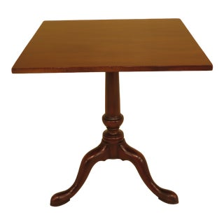 1970s Queen Anne Kittinger Colonial Williamsburg Mahogany Side Table For Sale
