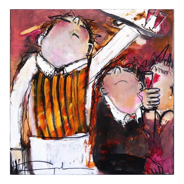 """""""One More Wine"""" Original Artwork by Gerdine Duijsens For Sale"""