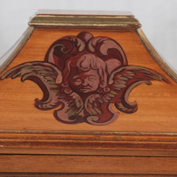 Early 20th Century Georgian Style Walnut Tantalus Set - Set of 4 For Sale - Image 4 of 6