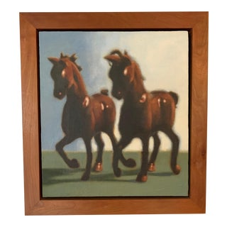 """""""Two Horses"""" Painting by Scott Marvel Cassidy For Sale"""