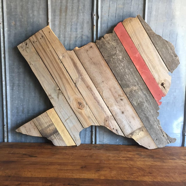 Reclaimed Barn Wood Texas Sign - Image 2 of 7