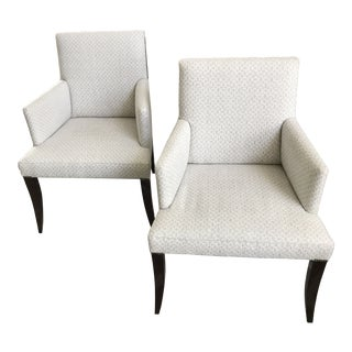 Modern Baker Furniture the Thomas Pheasant Collection Dining Arm Chairs - a Pair For Sale