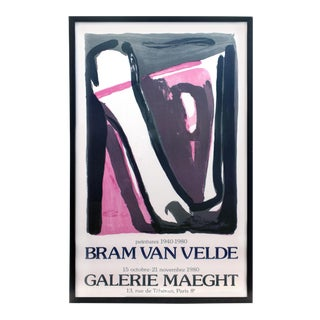 Framed Bram Van Velde at Galerie Maeght Poster