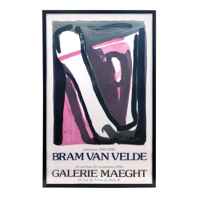 Framed Bram Van Velde at Galerie Maeght Poster - Image 1 of 4