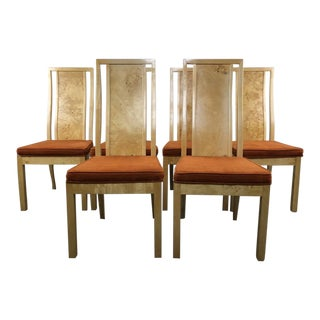 Vintage Burl Hollywood Regency Thomasville Dining Chairs
