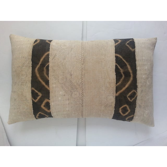 Spotted African Kuba Cloth Pillow - Image 3 of 3