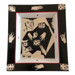 Fabienne Jouvin Vide Poche French Surrealist Style Tray, Fornasetti Style For Sale