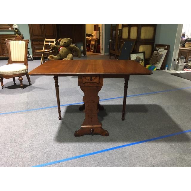 19th Century Pennsylvania Dutch Swing Leg Table For Sale - Image 13 of 13