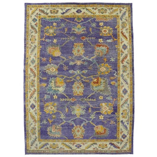 "Contemporary Turkish Oushak Rug - 10'4"" x 14'4"" For Sale"