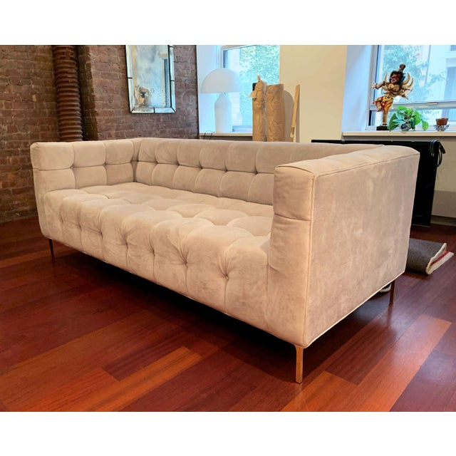 ModShop ModShop Custom Made Tufted Sofa For Sale - Image 4 of 9