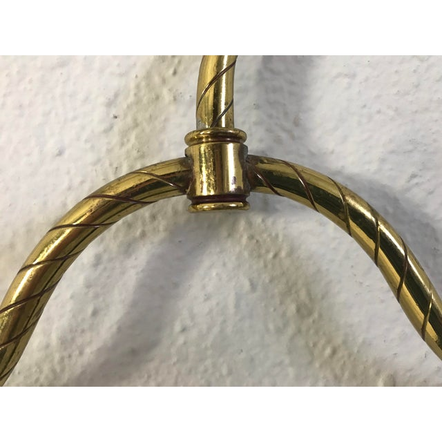 Vintage Mid-Century Brass Clothes Hanger For Sale In Seattle - Image 6 of 9