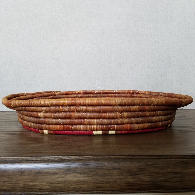 Vintage African Coiled Basket Tray For Sale - Image 4 of 6