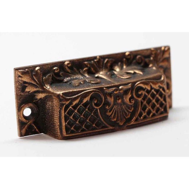 French Antique French Bronze Drawer Bin Pulls - a Pair For Sale - Image 3 of 7