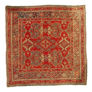 "Pasargad Antique Turkish Oushak Hand-Knotted Rug - 9'3"" X 9'4"" For Sale"