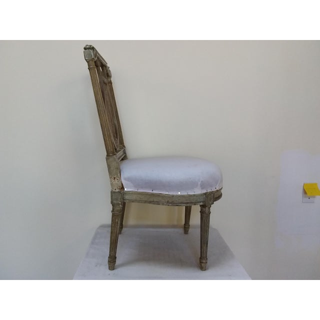 Antique French Slipper Chair For Sale - Image 4 of 6