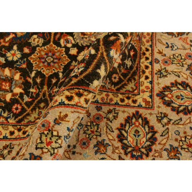 Asian Istanbul Claris Brown/Lt. Tan Turkish Hand-Knotted Rug -4'3 X 6'2 For Sale - Image 3 of 8