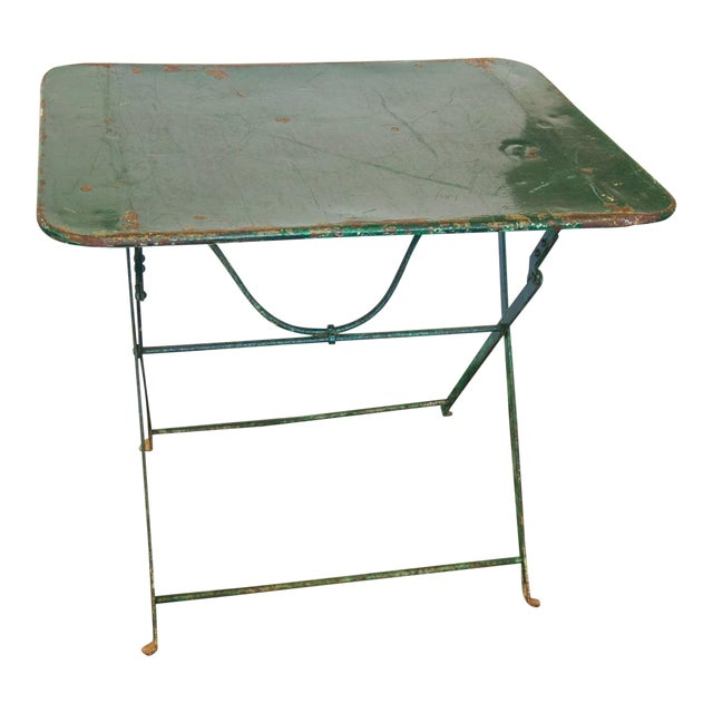 French Folding Garden Table - Image 1 of 10