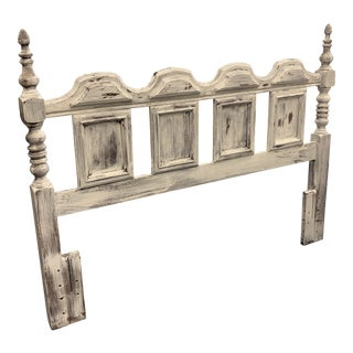 Vintage Distressed Full/Queen Headboard For Sale