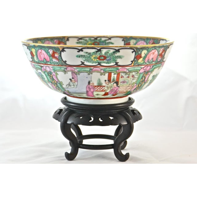 Pink Famille Rose Bowl & Stand For Sale - Image 9 of 9