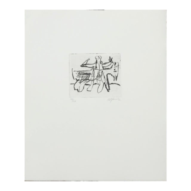 'Etched Composition With Figures' by Robert Jacobsen, 2004 For Sale