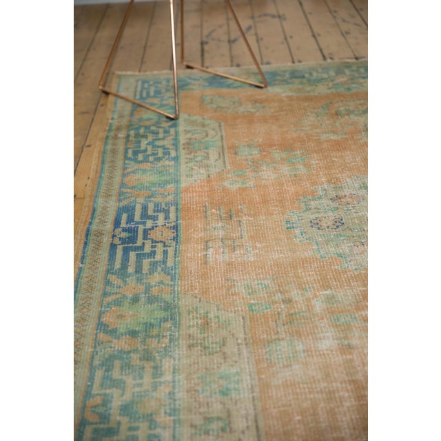 """Old New House Vintage Distressed Oushak Carpet - 6'2"""" X 9'8"""" For Sale - Image 4 of 13"""