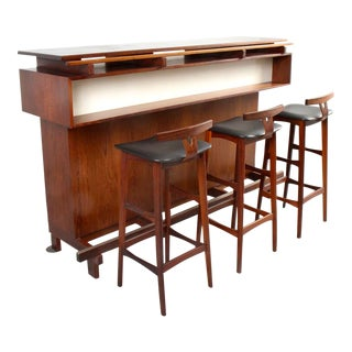 Rosewood Dry Bar Set by Erik Buch for Dyrlund For Sale