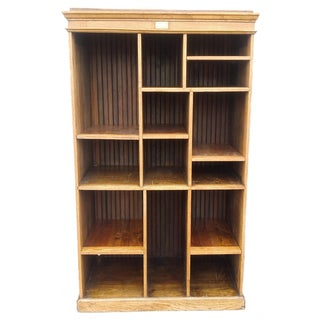 MCM Rustic Wood Book Shelf Storage Unit