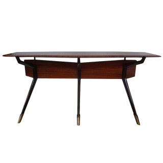 1950s Mid Century Modern Console Table For Sale