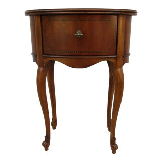 Walter E. Smithe French Side Table With Inlay For Sale