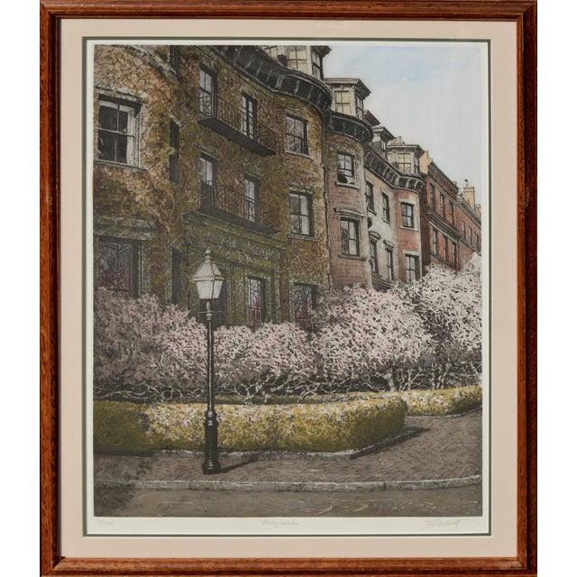 1990s Magnolia, Beacon Hill Boston by John Colette For Sale - Image 5 of 5