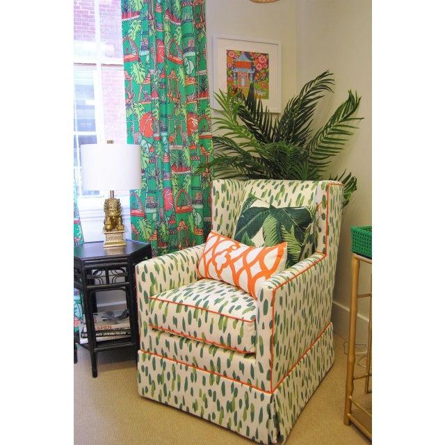 Custom Upholstered Braeton Swivel Club Chair - Image 6 of 6