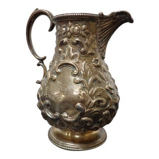 Richard Martin & Ebeneezer Hall Sheffield Sterling Silver Pitcher For Sale