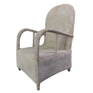 Nigerian White Beaded Yoruba Chair For Sale
