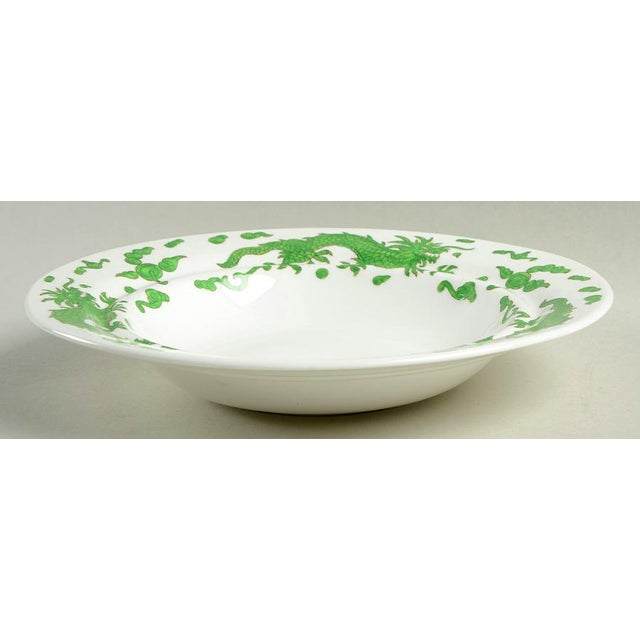 Chinoiserie 1960s Hammersley Green Dragon Round Covered Butter Dish For Sale - Image 3 of 9
