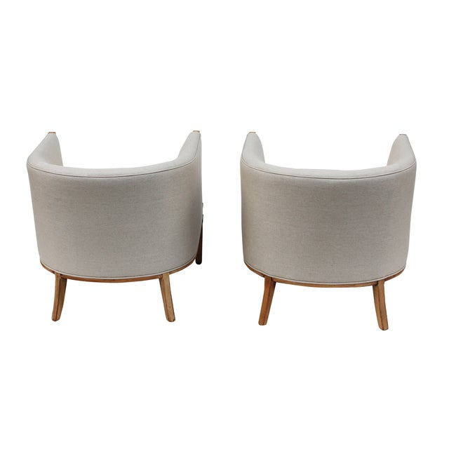 Hollywood Regency Barrel Back Chairs - A Pair - Image 8 of 10