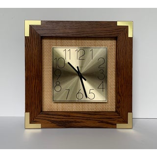 Vintage Wicker and Brass Wall Clock Preview